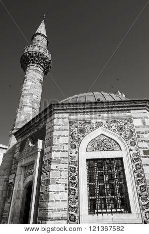 Ancient Camii Mosque, Facade Fragment Photo