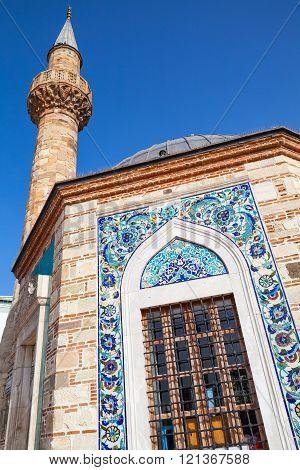 Izmir, Turkey. Ancient Camii Mosque Facade