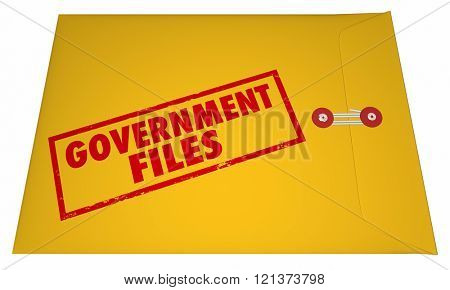 Government Files Records Sealed Classified Confidential Envelope Secrets 3D