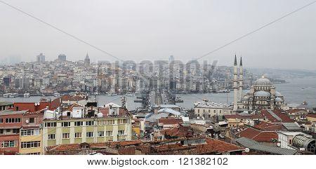 Galata and Karakoy district in Istanbul