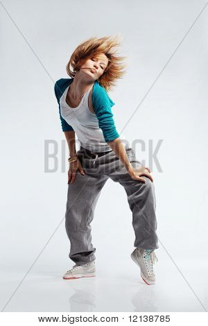 Teenage girl dancing hip-hop studio series poster