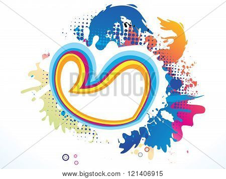 Abstract Artistic Colorful Heart Explode