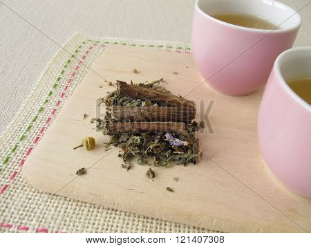 Herbal tea with liquorice root