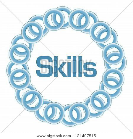Skills Blue Rings Circular
