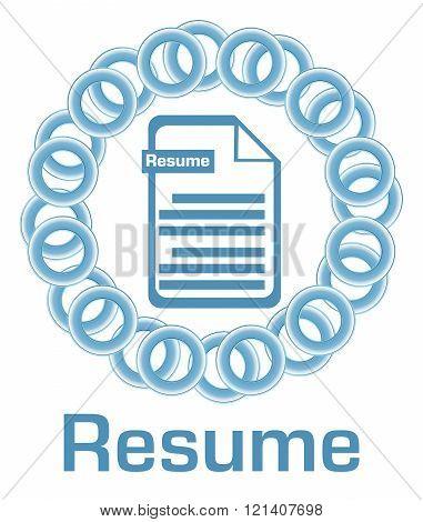 Resume Blue Rings Circular