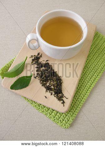 Darjeeling green tea and stevia