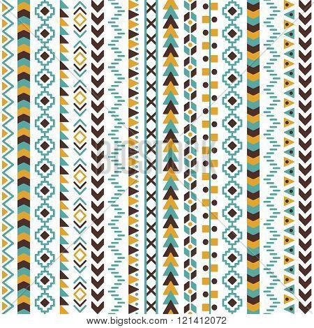 Vector Tribal Aztec Seamless Pattern