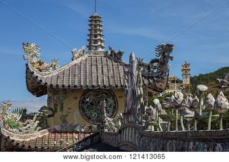 Linh Phuoc Pagoda At Da Lat City, Lam Dong Province, Vietnam.