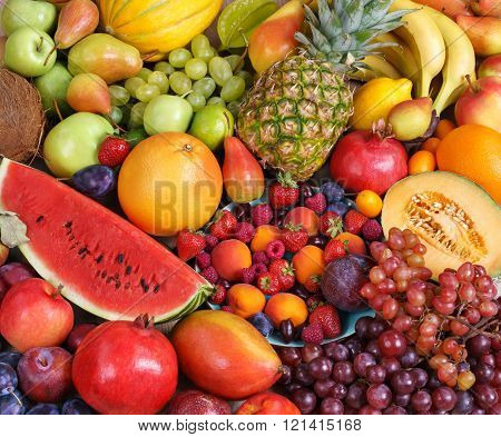Healthy natural fruit background