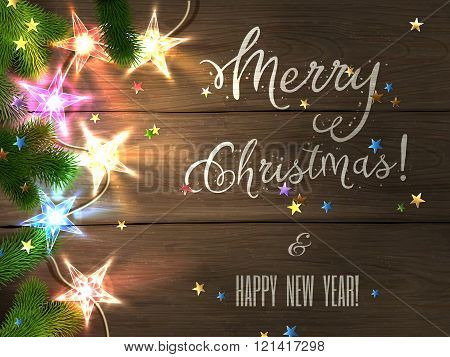 Christmas design - Merry Christmas and Happy New Year.