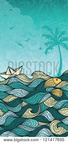 Abstract Sea Background.