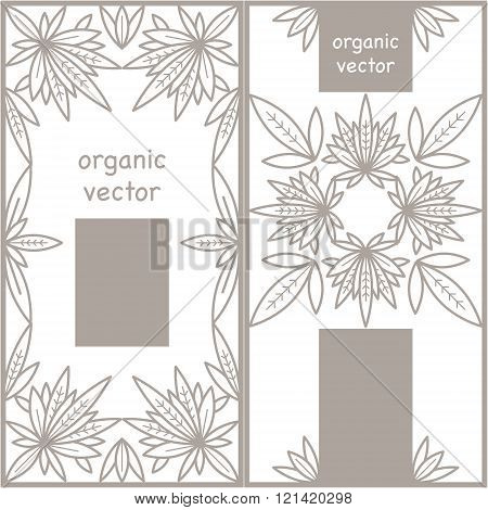Set the organic template design. Organic vector. The modern design of the organic packaging for natural organic products organic shops organic cosmetics organic food organic clothing.