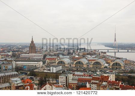View At Riga From  Tower Of Saint Peter's Church, Riga