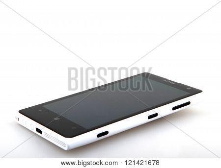 Aytos Bulgaria - March 12 2016: Nokia Lumia 1020 Isolated On White. The Nokia Lumia 1020 Is A Smartp