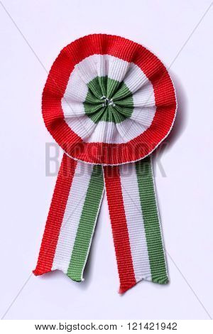 Hungarian Cockade On White Background