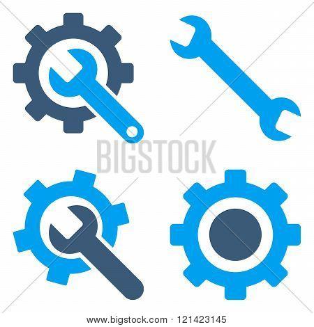 Settings Flat Vector Symbols