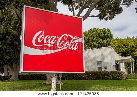 Coca-Cola Beverage Sign and Logo
