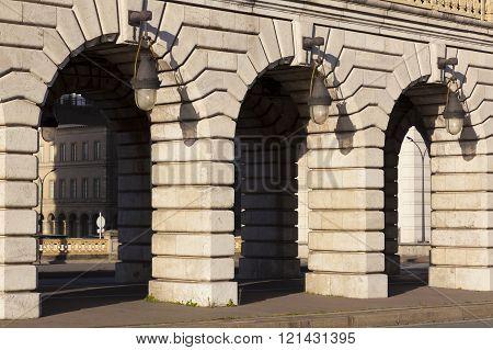 Bercy bridge in the city of Paris Ile-de-france France