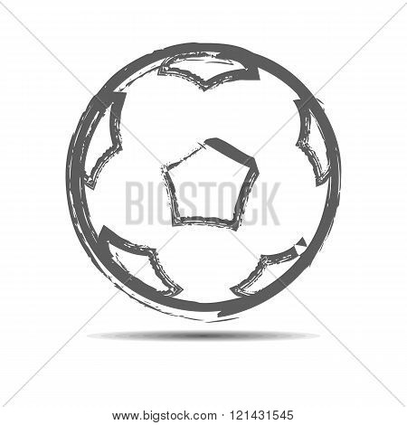 The soccerball Vector illustration