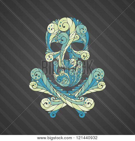 Tribal tatto skull.