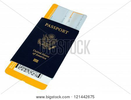 Passport With Yellow Boarding Pass,altered, No Trademarks