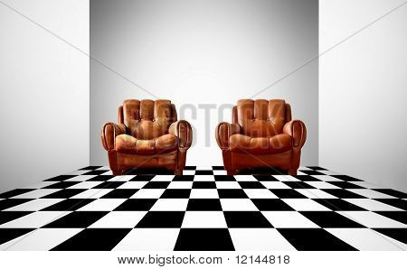 two arm-chair