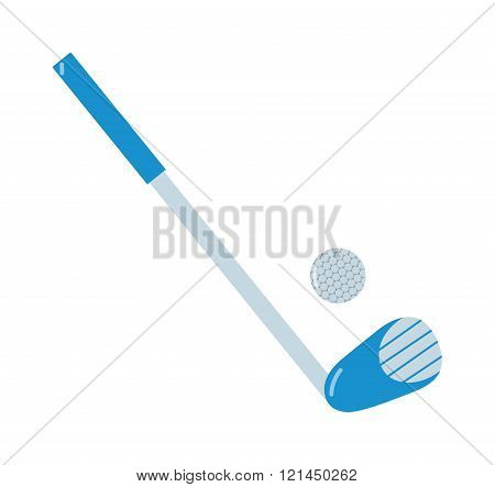 Golf putter and golf ball vector on white background.