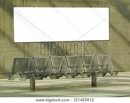 billboard at train station