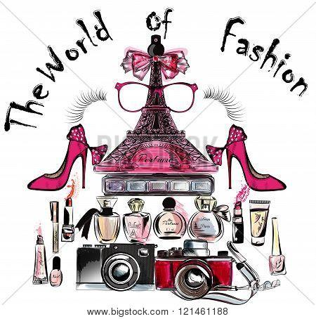 Ifel Tower Shoes Lipsticks Perfumes The World Of Fashion