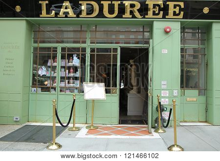 Famous Laduree bakery and tea room in Soho in New York City