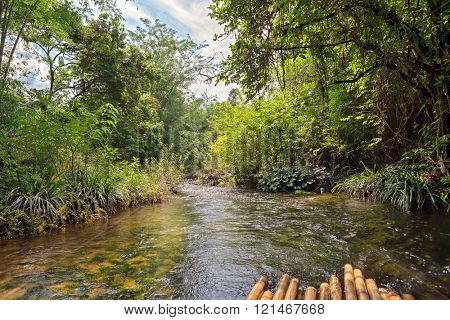 River in jungle, Thailand