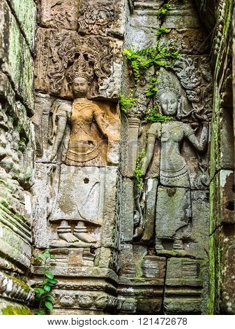 Ancient Stone Carving of Apsara