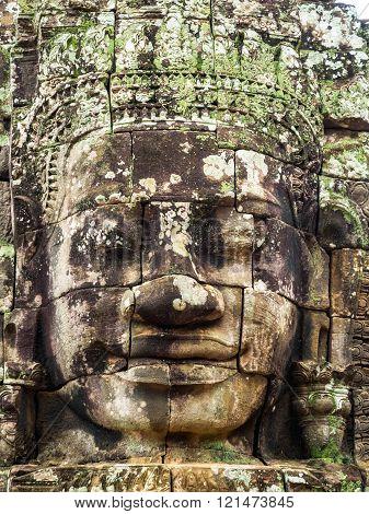 Bayon Face At Ankor Thom