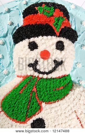 Snowman Cake Closeup