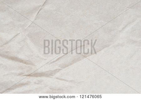 Wrinkled packaging paper background close up DOF poster