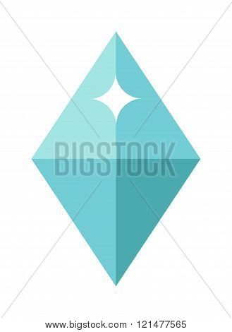 Flat design of Blue gemstone illustration.