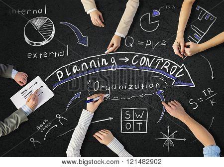 Businessteam working in collaboration