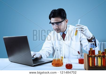 Male Scientist Making Biotechnology