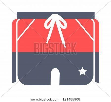 Running pants sport design vector illustration.