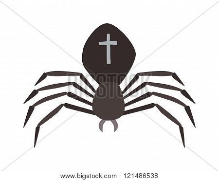 Spider illustration. Black Widow.