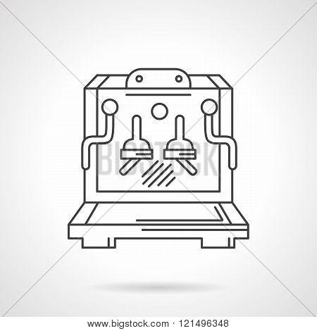Coffee shop flat line design vector icon