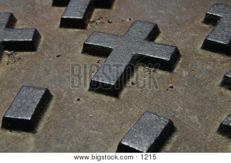 Religious Manhole Cover