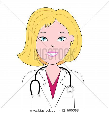Happy nurse illustration
