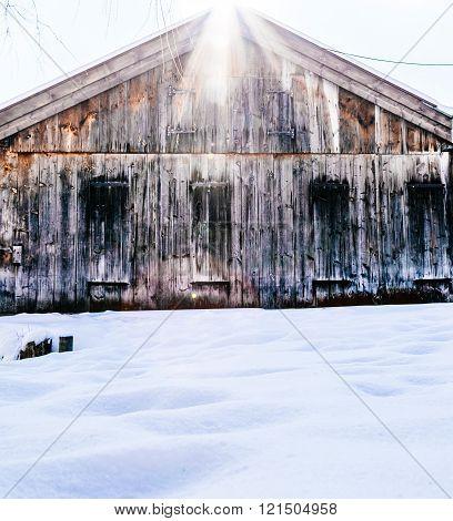 Boathouse winter lake fishing snow cabin bavaria
