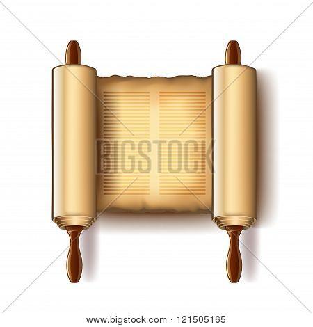 Torah Isolated On White Vector