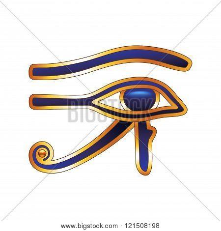 Eye Of Horus Isolated On White Vector