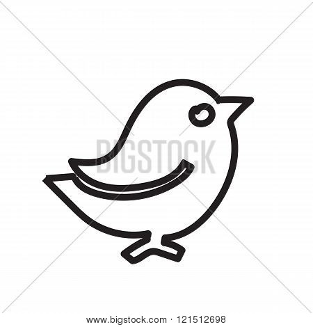 Black contour birds. A simple illustration of a bird