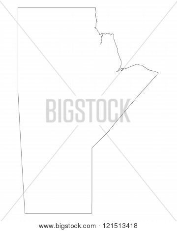 Map Of Manitoba