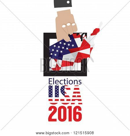 Usa Elections Vote 2016 Concept.