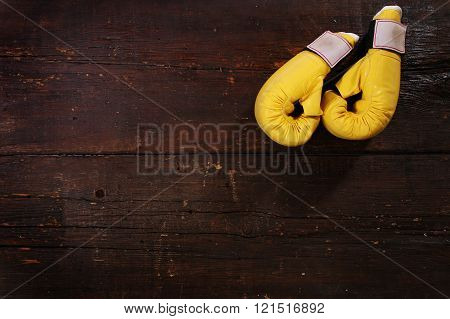 Yellow boxing gloves